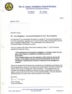 Final Board's response to to concerned residents in May 25, 2010